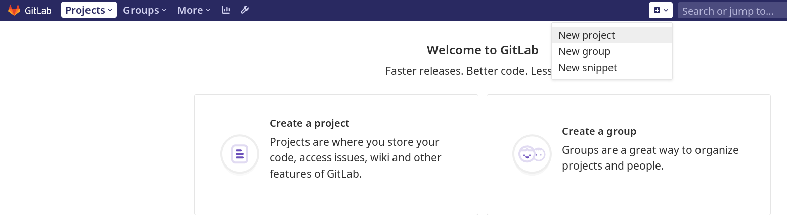 Create new project from GitLab