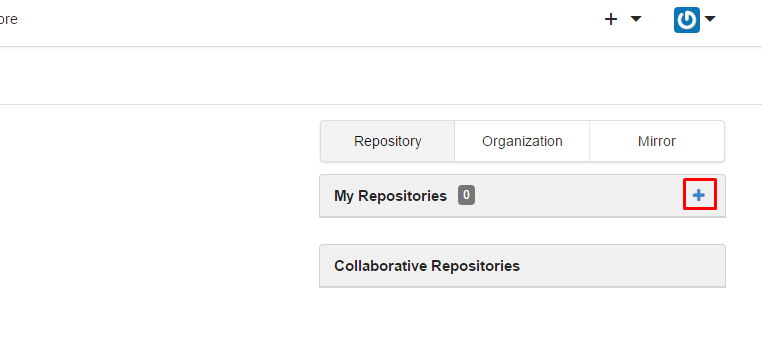 new repository button